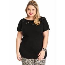 Blusa Plus Size Feminina Preta ( Roupa Tamanhos Grandes )