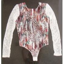 Body Onça Oncinha Renda Animal Print Estampado Blusa Bicho