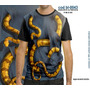 Camisetas Personalizadas , Estampa Digital Cobra 3d