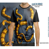 Camisetas Personalizadas , Estampa Digital Cobra 3d