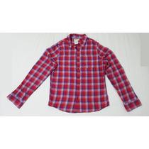 Camisa Social Hollister Vermelho/ Azul - Tam G
