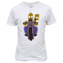 Camiseta Ou Baby Look Bart Simpson Homer