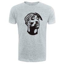 Camiseta Tupac - 2pac - Exclusiva - Rosto - Hip Hop - Rap