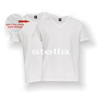 Camiseta Infantil Gola V Branca Lisa 100% Poliéster Sublimaç