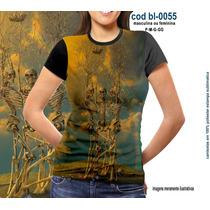 Camisetas Personalizadas , Estampa Digital 3 Caveiras