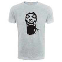 Camiseta Snoopy Dog - Exclusiva - Rosto - Hip Hop - Rap