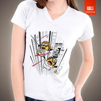 Camisetas De Filmes Desenhos Animados Minions Star Wars