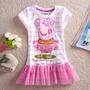 Promoção Roupa Vestido Blusa Da Peppa Pig Pronta Entrega
