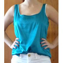 Camisa Cetim Azul