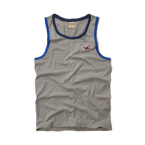 Camiseta Regata Hollister Em Cinza - Tamanho Xg