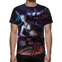 Camisa Camiseta League Of Legends Jinx O Gatilho Desenfreado