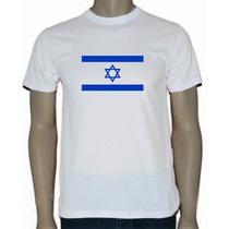 Camisa Algodão Estampa Em Silk - Bandeira Israel