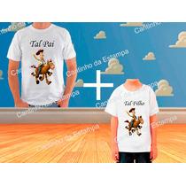 Kit 2 Camisetas Toy Story Tal Pai Tal Filho