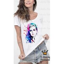 Camiseta Blusa Cantores Adele Romantica Abstrato