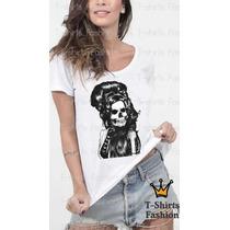 Camiseta Blusa Caveira Americana T-shirt Fashion