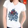 Camisetas Tv E Desenhos - Walking Dead Smurf Zombie