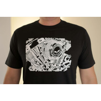 Camiseta Harley Davidson Motor Motociclista Custom