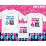 Kit Camisetas Personalizada Aniversario Festa Monster High