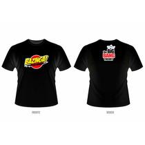 Camiseta Bazinga - The Big Bang Theory (preta Ou Branca)