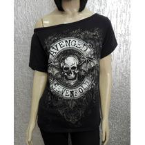 Camiseta Feminina Avenged Sevenfold - Gola Canoa - Mod3