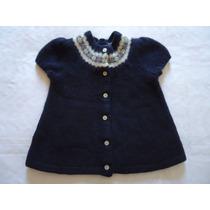 Blusa Menina Ralph Lauren Azul Lã Grossa 3 Anos