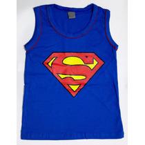 Camiseta Infantil Superman - Heróis - Camisa Regata - Blusa