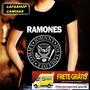 Camisa Ramones Baby Look Feminina Camiseta Banda Rock Mulher