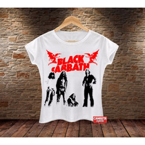Camiseta Feminina Black Sabbath Ozzy Osbourne Rock Banda