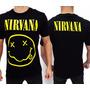 Camiseta De Banda - Nirvana - Smile (consulado Do Rock)