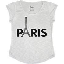 Tshirt Feminina Em Tecido Flamê - Paris Torre Eiffel