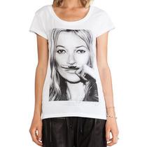 Pronta Entrega! T-shirt/camiseta Algodao Kate Moss Tam M/g