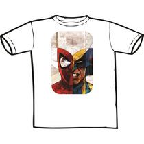 Camiseta Homem Aranha Wolverine Hq Super Heroi Quadrinho