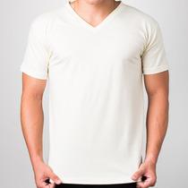 Camisetas Lisas Masculina - Gola V - 100% Algodão