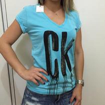 Blusa Calvin Klein Feminina Malha Tam P Ck 100% Original