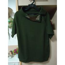 Blusa De Malha Verde Escuro Daniel Cassin - Importada