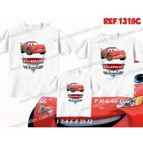 Lembrança De Aniversario Carros Mcqueen Kit Camisetas C/ 3
