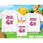 Lembrança De Aniversario Ursinho Puff Kit Camisetas C/ 3