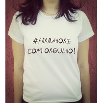 Babylook Camiseta Musica Paramore Parawhore Hayley Williams