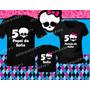 Camiseta Monster High Kit 3 Peças Personagem Personalizada
