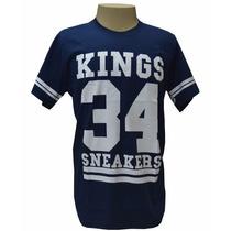 Camiseta King Snearkes 34 Azul Marinho Frete Gratis
