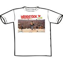 Camiseta Woodstock Festival - Bandas Filmes Séries Hq Games