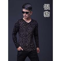 Camiseta Manga Longa Veludo Estampa 3d