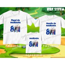 Lembrança De Aniversario Frozen Kit Camisetas C/ 3