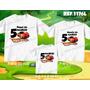 Lembrança De Aniversario Hot Wheels Carro Kit Camisetas C/ 3