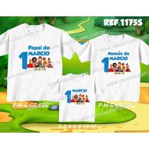 Lembrança De Aniversario Cocorico Kit Camiseta C/ 3