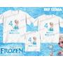Kit Camisetas Personalizadas Aniversario Tema Elsa Frozen