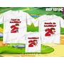 Lembrança De Aniversario Chapeuzinho Kit Camisetas C/ 3