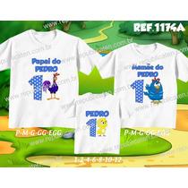 Kit Camisetas Personalizadas Aniversario Galinha Pintadinha