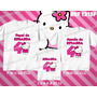 Lembrança De Aniversario Hello Kitty Kit Camisetas C/ 3