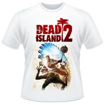 Camiseta Dead Island 2 Branca Video Game Camisa